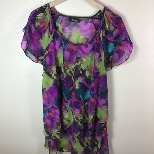 Style & Co Woman Purple Floral Blouse